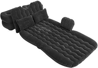 Colchón hinchable de coche, cama hinchable con 2 almohadas, soportes y bomba de aire, para viaje, camping, habitación interior, Negro