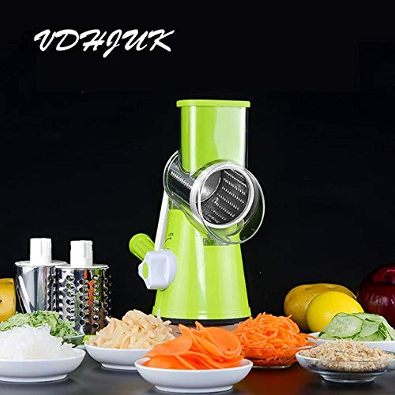 Farmerly 2018 High Quality Multifunctional Manual Vegetable Spiral Slicer Chopper Slicer Grater Clever Vegetable Cutter Kitchen Tools   Green