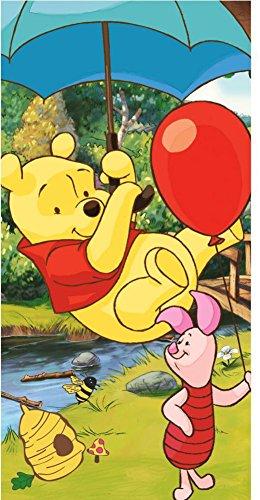 Disney Winnie Pooh - Toalla de playa (70 x 140 cm), multicolor