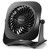 OPOLAR 4 Inch Mini USB Desk Fan, 2 Speeds, Lower Noise, USB Powered