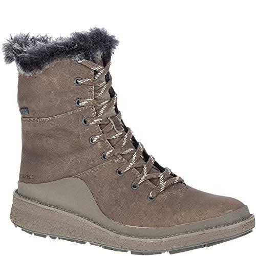 Merrell Tremblant Ezra Lace Waterproof Ice+ Boots Boulder Womens Sz 7.5