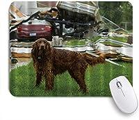 NIESIKKLAマウスパッド 竜巻後の雨の中の犬 ゲーミング オフィス最適 おしゃれ 防水 耐久性が良い 滑り止めゴム底 ゲーミングなど適用 用ノートブックコンピュータマウスマット