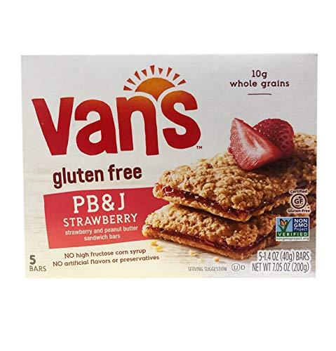 Van's Gluten Free Simply Delicious Whole Grain 5 Snack Bars 1 Box (PB & J)