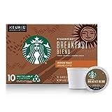 Starbucks Breakfast Blend Medium Roast Single Cup Coffee for Keurig Brewers, 1 Box of 10 (10 Total K-Cup pods)