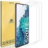 ANEWSIR Cristal Templado Compatible con Samsung Galaxy S20 FE/FE 5G,[9H Dureza] [HD Film] [Resistente a rayones] [Fácil de Instalar],Protector de Pantalla - (3 Pack)