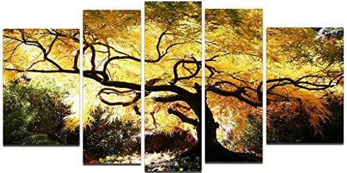 Startonight Glasbild Kanadischer Ahorn, Bild auf Acrylglas Muster Modern Dekoration Fertig zum Aufhängen 90 x 180 cm