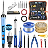 Electronics Soldering Iron Kit, 80W LCD Digital Soldering Gun with Adjustable Temperature Controlled...