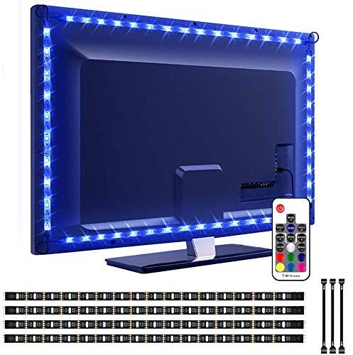 LED TV Hintergrundbeleuchtung, VOYOMO Upgrade-Version 2M LED Fernseher Beleuchtung USB für 40 bis 60 Zoll HDTV,TV-Bildschirm und PC-Monitor
