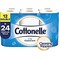 2-Pack Cottonelle Ultra CleanCare Toilet Paper (12 Double Rolls)