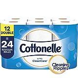 Cottonelle Ultra CleanCare Toilet Paper, Strong Bath Tissue, 12 Double Rolls...