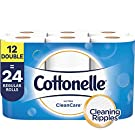 Cottonelle Ultra CleanCare Toilet Paper, Strong Bath Tissue, 12 Double Rolls