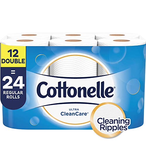 Cottonelle Ultra CleanCare Strong Toilet Paper, 12 Double Rolls