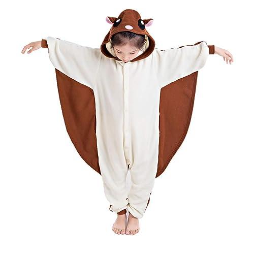 f9cb5db8a2 NEWCOSPLAY Unisex Children Sloth and Flying Squirrel Pyjamas Halloween Kids  Onesie Costume