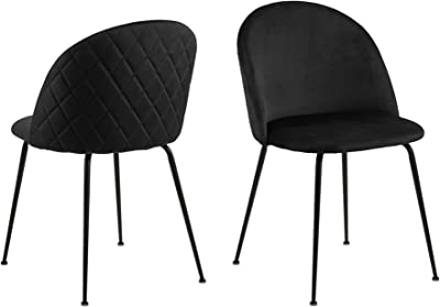 Cooper & Co. Living Luna Dining Chairs Set of 2, Black