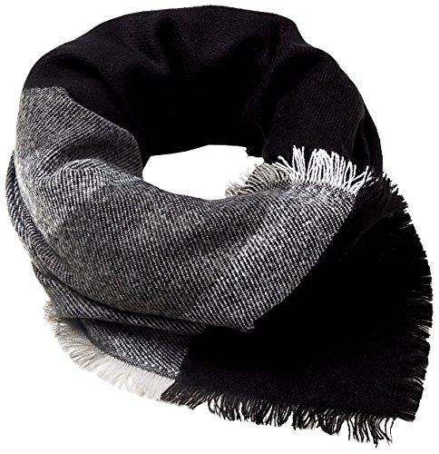 Esprit Accessoires Heren 107EA2Q006 sjaal, Zwart (Black 001), One Size