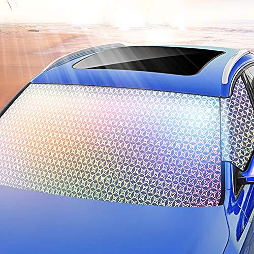 TJCB Auto Windschutzscheibe Sonnenschutz Auto-Anti-Diebstahl-Schutz-Abdeckung Wärmedämmung Sonnenschutz Umweltschutz Kein Geruch Folding Lagerung Sun Block Universal-,140x75cm