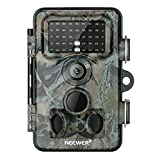 Neewer トレイルゲームカメラ 16MP 1080P HDデジタル防水狩猟スカウティングカム 120度広角レンズ 0.3秒トリガースピードモーション活性化ナイトビジョン 野生生物モニタリング用