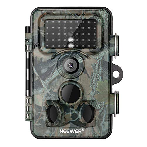 Neewer Trail Game Camera 16MP 1080P HD Digital Waterproof Hunting Scouting Cam 120° Wide Angle Lens with 0.3s Trigger Speed Motion Activated Night Vision for Wildlife Monitoring