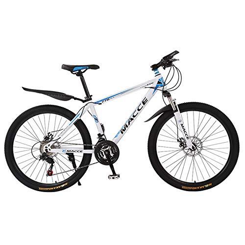 WGFGXQ Mountainbike, 21-Gang-Fahrrad, vollgefederte Rennräder mit Scheibenbremsen, Mountainbike aus Kohlenstoffstahl für Männer/Frauen