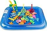 Pesca Pesca Magnética Juguetes de Agua Juegos de bañar a los niños Juguetes inflables del Bañera Educación de la Primera Conjunto de Juguete 26PCS / Set,a