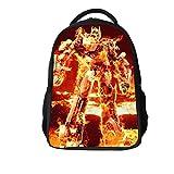 XCO-LEE Kids Transformers Book Bag Backpack-Bumblebee Optimus Prime School Backpack-Backpack for Travel,Camping