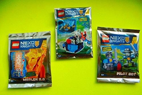 LEGO® NEXO KNIGHTS 3er Set Tüten: Pilot Bot, Merlok 2.0 und Jet Horse