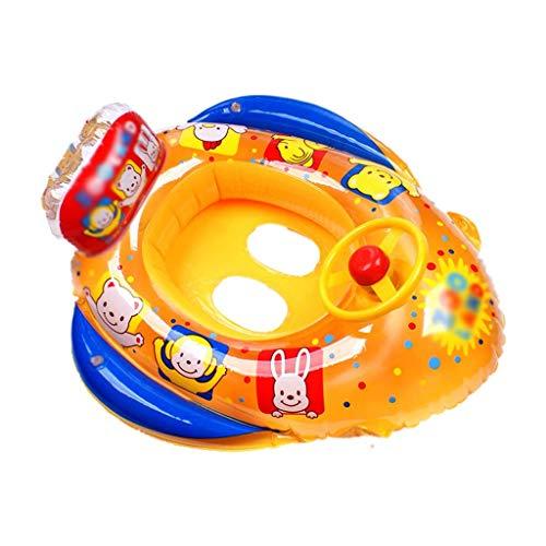 Gcxzb Schwimmreifen Bild Aufblasbarer Ring Schwimmenring Baby Sitzende Kreis Schwimmen Ring Aufblasbare Kind Lebensring Cartoon Mode Nette Jungen Mädchen (Color : Orange)
