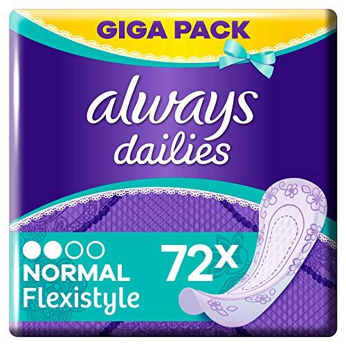 Always Dailies Slipeinlagen Damen Flexistyle Normal (72 Einlagen) Giga Pack, Passend Für Alle Slipformen