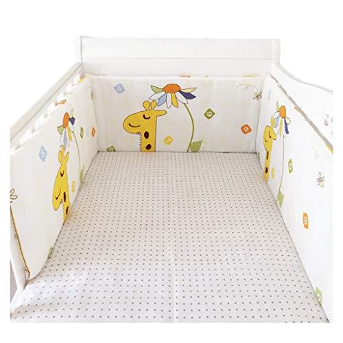 Bettumrandung LAN, Einteiliges, Herausnehmbares, Waschbares Antikollisionspad for Kinder Neugeborenes Bett Baumwolle Verdickte Bandage Festbett Um Bettwäsche (Color : Pattern 5, Size : 165X30CM)