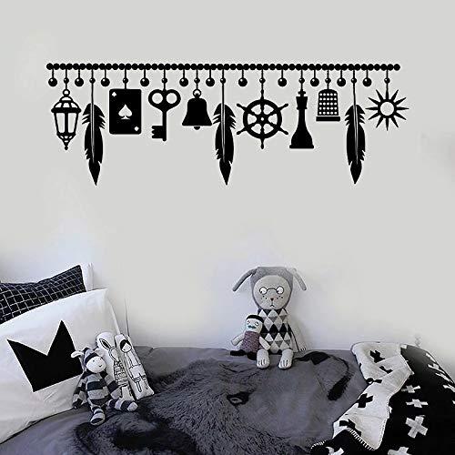 Lucky amulet vinilo pared de pared para niños jardín amuleto decoración de pared arte del hogar