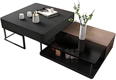 Lift Top Coffee Table with Hidden Storage Compartment & Lower Shelf, Lift Tabletop Farmhouse Table for Living Room Office Reception