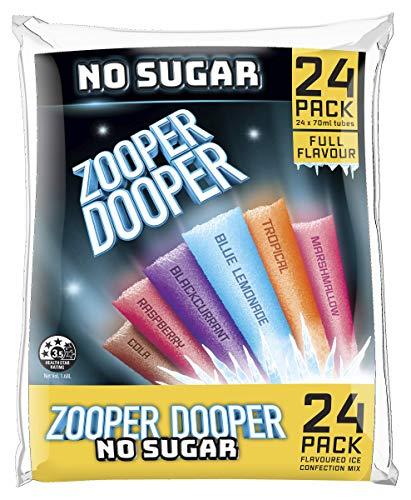 Zooper Dooper Wassereis Keine Zuckerröhrchen 24 x 70 ml x 6