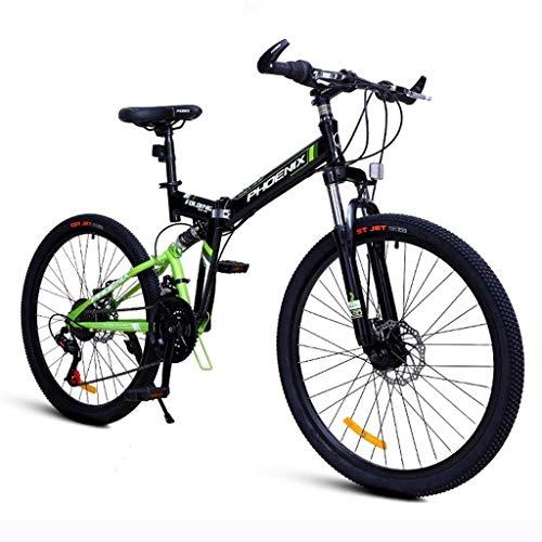 N /A Bici per Bambini Bicicletta Pieghevole Pedale per Studente Bicicletta Mountain Bike Bilancia da 25 Pollici Uomini e Donne Adulti
