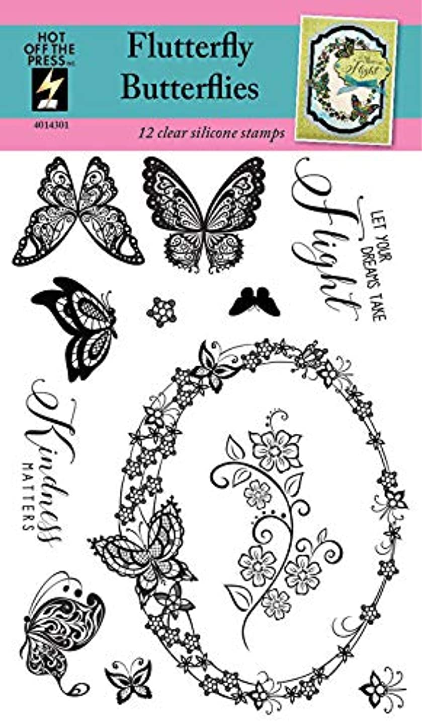 Clear Silicone Stamp Set by Hot Off The Press | Scrapbooking, Card Making, Gifts and Home Decor - Inspiration at Your Finger Tips (Flutterby Butterfly)