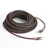 NUMAN Cable para Altavoz OFC de Cobre Puro con Conectores (Conector Banana Jack, Ideal para HiFi y Home Cinema de Alta fidelidad, bañado en Oro, 2 x 3.5 mm, 5 m de Largo)