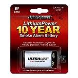 Ultralife U9VLJPXC Lithium Battery, 9V, For Smoke/CO Detector - 1...