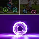 LED Bike Spoke Lights, Bicycle Wheel Light 7 Color USB Rechargeable Waterproof Drum Wind Fire Wheels Super Bright for Cycling Urban Road