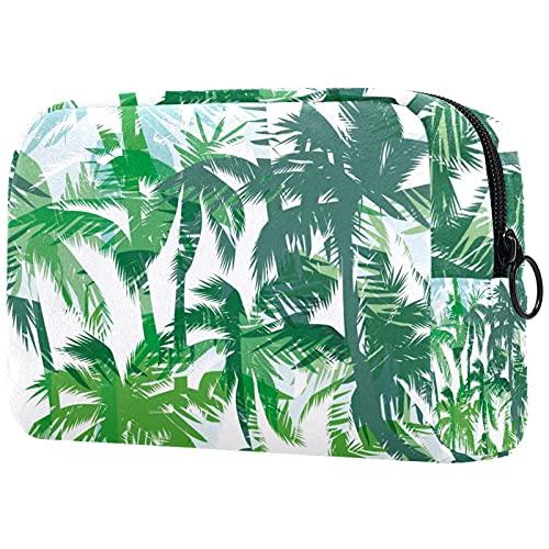 Hojas Bolsas de maquillaje portátil bolsa de cosméticos organizador de viaje neceser maquillaje casos para mujeres, Multicolor 10, 18.5x7.5x13cm/7.3x3x5.1in,