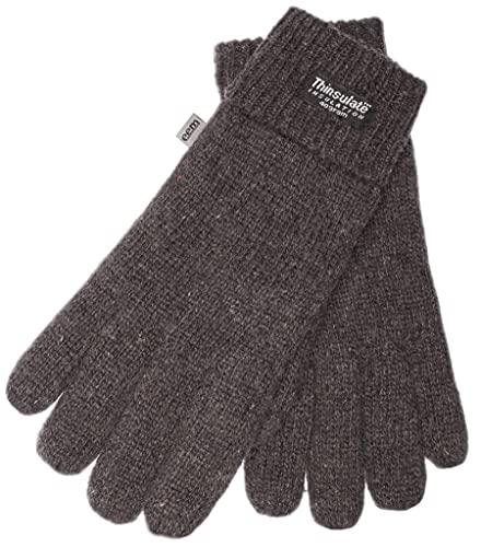 EEM gants en laine LASSE pour hommes, doublure de Thinsulate™, douce à toucher, anthracite S