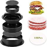 Burgerpresse Set, 3 in 1 Hamburgerpresse für Normale und