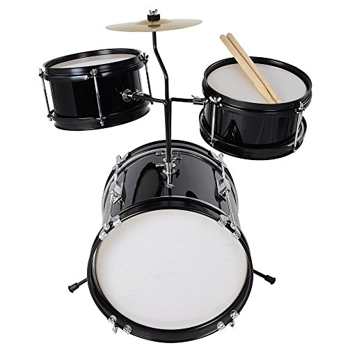 AW 3pcs Junior Kids Child Drum Set Kit Sticks Throne Cymbal Bass Snare Boy Girl...
