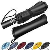 Newdora Parapluie Pliant, Parapluie Coupe-Vent & Ultra-léger, Ouverture et Fermeture Automatique, Parapluie Compact Incassable...