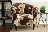Mainstays Marlee Animal Printed Bucket Accent Chair (Cowhide Brown)