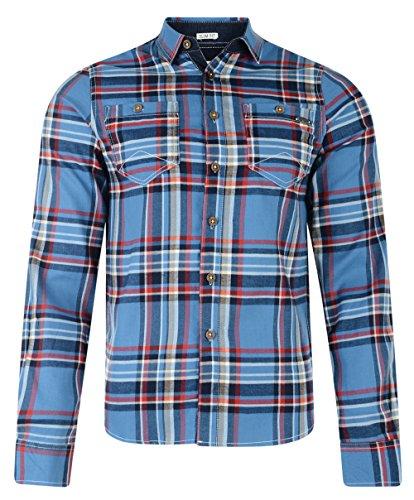 Lee Cooper Wandsworth a Maniche Lunghe Camicia True Blue Small