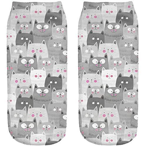 Ferocity Chaussettes de sport Coton 36-40 Theme 3D Omvre chat Cats [001]