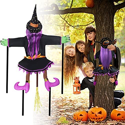 DUTISON Halloween Decoracion Brujas Adecuado para Decorar Casas, Jardines y Puertas