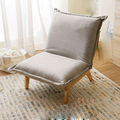 JJZXT Moderner Minimalist Removable fauler Sofa, Stuhl, Massivholz-Low Chair, Balkon Schlafzimmer Stoff Sofa, Stuhl, (Color : B)