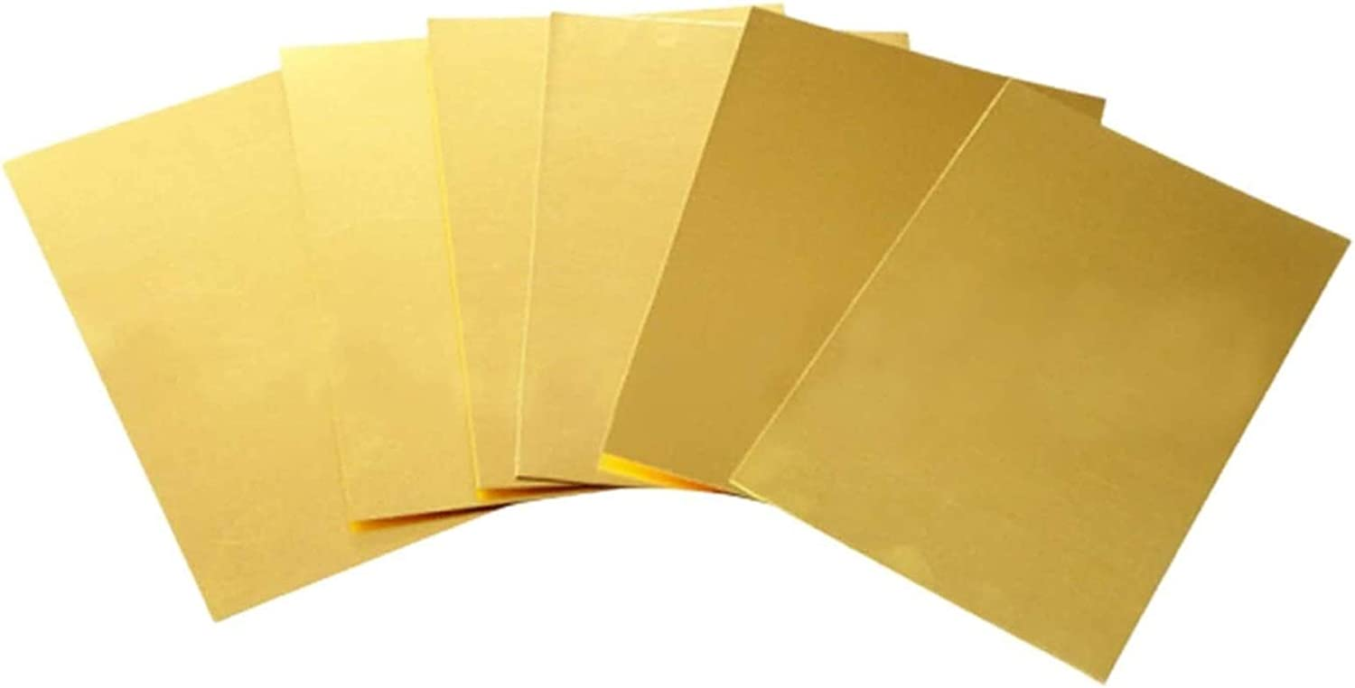 Wzqwzj Copper Sheets Brass Metal an Clearance SALE! Limited time! Conductivity Electrical Wholesale Good