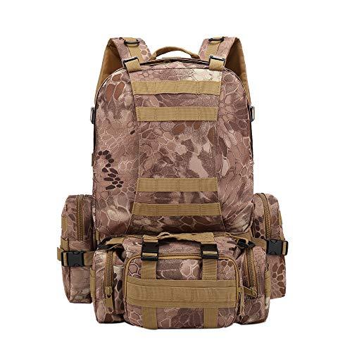 fhdc Zaino Zaino Da Esterno Camouflage Viaggio Alpinismo 55L Campeggio Trekking Trekking Tactical BagI