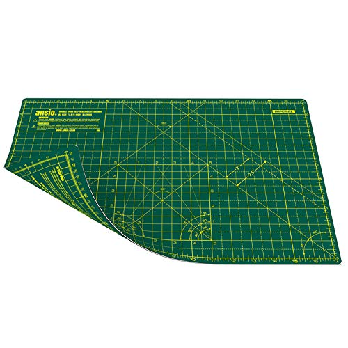 Double Sided Grid OfficeTree Cutting Mat A2 Self Healing Crafting Blue Cutting Board Craft 60 x 45 cm PVC 3 Layers Quilting for Sewing Scrapbooking Modelling